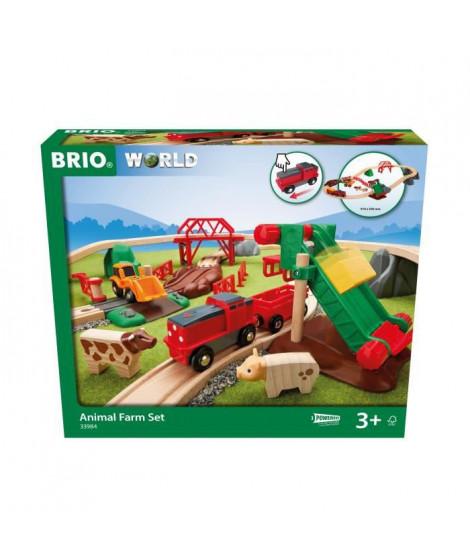 BRIO - 33984 - CIRCUIT DE LA FERME ET LOCOMOTIVE a PILE
