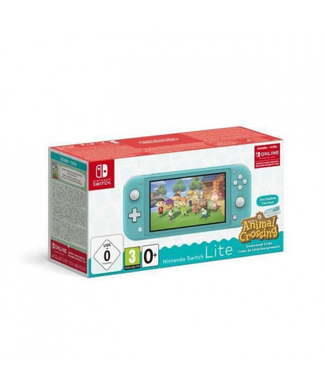 Pack Nintendo Switch Lite Turquoise + Animal Crossing New Horizons + Abonnement 3 mois Individuel au service Nintendo Switch …