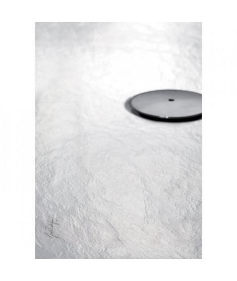 Jacob Delafon E62303-WPM Receveur de douche extra-plat IPSO 120x80x3,5 cm,  Blanc Mat Texture Pierre