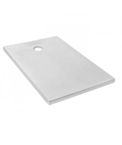 Jacob Delafon E62306-WPM Receveur de douche extra-plat IPSO 140x90x4 cm , Blanc Mat Texture Pierre