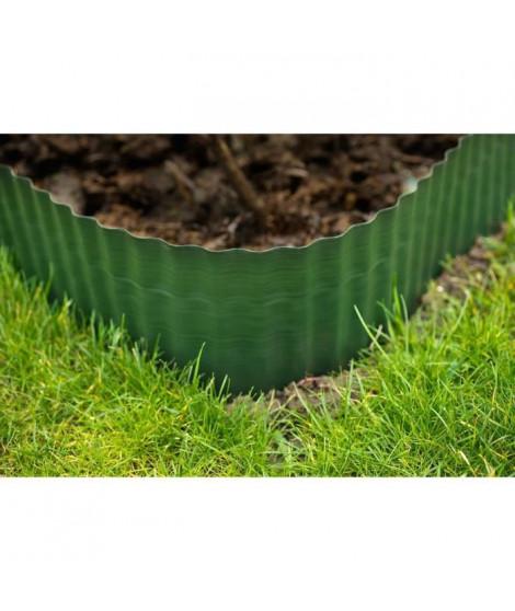 Bordure a gazon polyéthylenes verts H15 cm * 9 metres