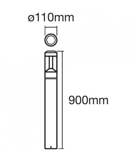 LEDVANCE Ampoule SMAR+ Bluetooth Modern Lantern 90 cm RGBW Borne extérieur - Couleur changeante