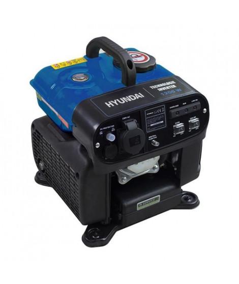 HYUNDAI Groupe électrogene essence Inverter 1200 W 1000 W - démarrage manuel avec lanceur  HG1600i-A