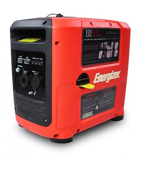 ENERGIZER Groupe électrogene essence Inverter 2200 W 2000 W - démarrage manuel avec lanceur EZG2200I