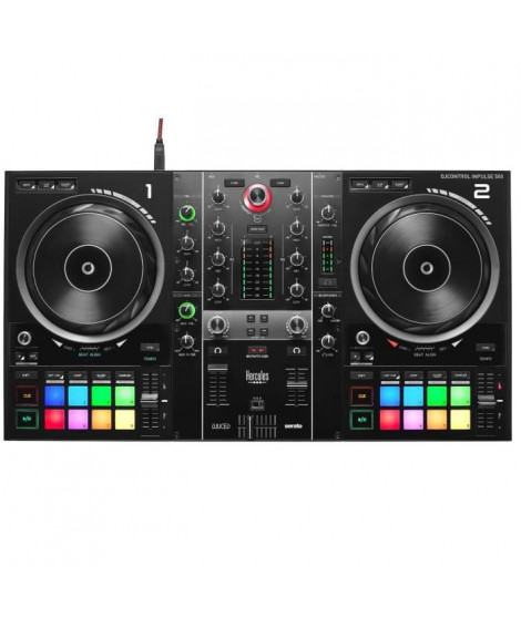 HERCULES DJCONTROL INPULSE 500 - Contrôleur DJ - Interface audio & mixeur hardware intégré