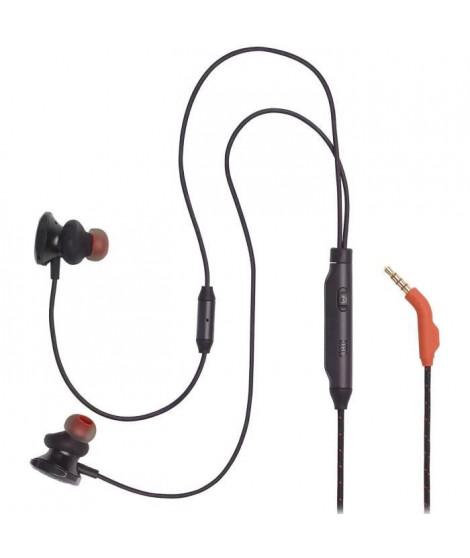 JBL Quantum 50 - Écouteurs gaming intra-auriculaires filaires avec curseur de volume et fonction de coupure du micro