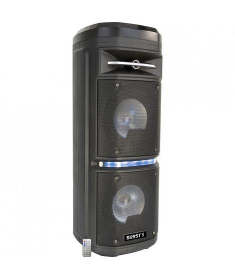 Enceinte BOOST-COSMO2800 - Bluetooth - Entrée USB et microSD - Eclairage LED - 260W