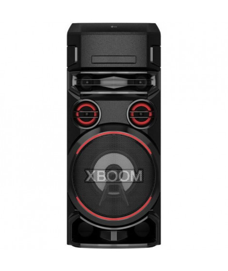 LG XBOOM ON7 - Systeme audio High Power Lecteur CD, Bluetooth, Boomer 8'', Lumieres multicolores, Fonctions DJ & Karaoké