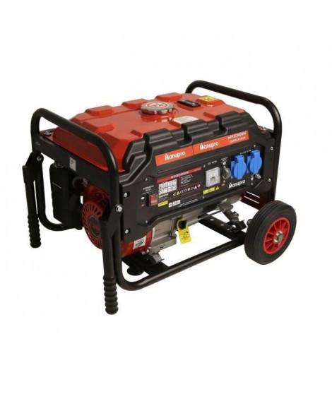 MANUPRO Groupe électrogene a moteur essence 4 temps OHV - 3000 W - Réservoir 15 L