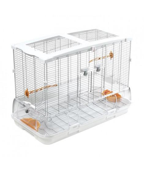Cage Vision pour oiseaux de grande taille, modele L01, standard, grillage étroit, 78 x 42 x 56 cm
