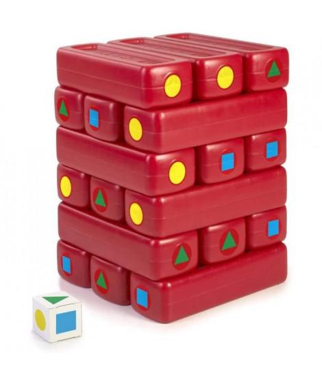 jeu d'extérieur Jenga géant 18 pieces - rouge - FEBER