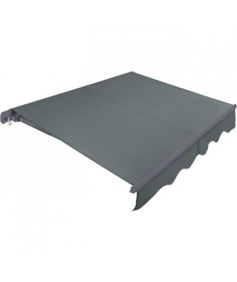 BEAURIVAGE Store banne manuel 3 x 2 m sans coffre - toile grise avec structure grise anthracite