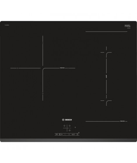 BOSCH PVJ631BB1E - Table de cuisson Induction - 3 zones - 7400W - L59,2 x P52,2cm - Revetement verre - Noir