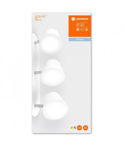 LEDVANCE LED Spot Applique Triple - 3 x 7W - IP44 - Blanc - Chaud/Froid
