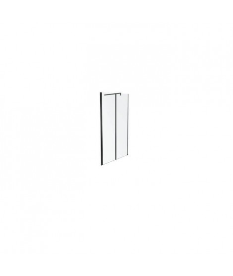 Jacob Delafon E14W100-BLV Paroi de douche Serenity 100 cm profilés noirs