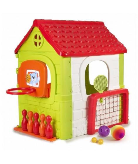Maison pour enfant Multi-Activités 6 en 1 - plastique anti-UV - FEBER - multi-jeux