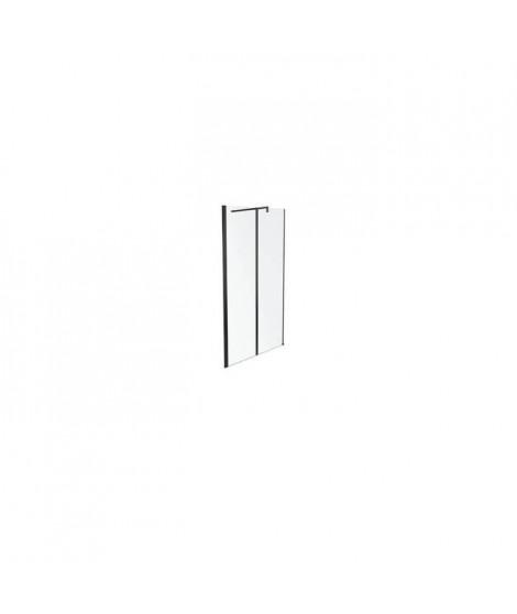 Jacob Delafon E14W120-BLV Paroi de douche Serenity 100 cm profilés noirs