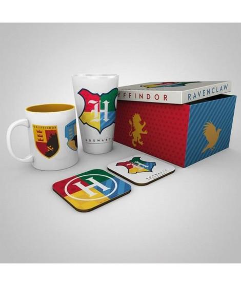 Coffret Cadeau HP HOUSE PRIDE - Un Mug, un Verre et deux Dessous de Verre - GB eye