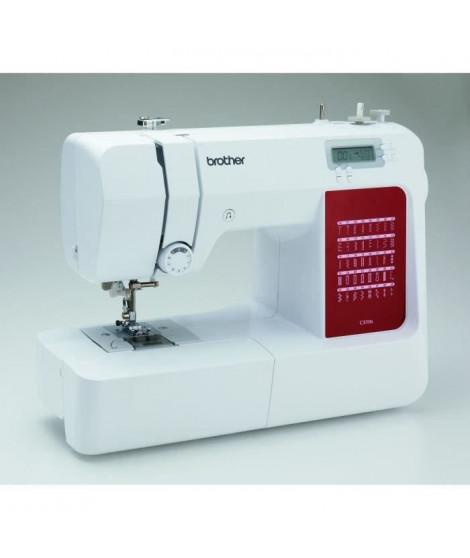 BROTHER - CS10s - Machine a coudre électronique - 40 points de couture - Systeme d'enfile-aiguille - Ecran LCD - Blanche