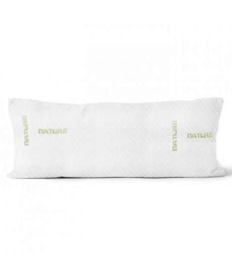 SOLEIL D'OCRE Traversin mémoire de forme - Polyester et polyuréthane - 160 cm - Blanc