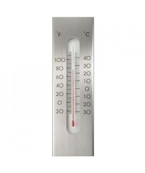 NATURE Thermometre mural d'extérieur en aluminium  23 x 7 x 1 cm