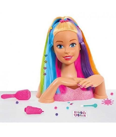 Barbie - Tete a coiffer Arc-En-Ciel