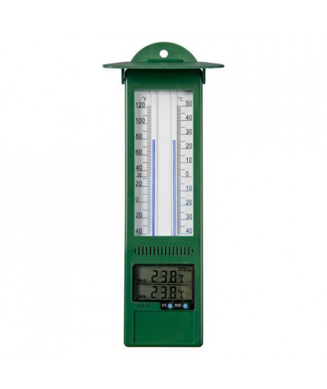 NATURE Thermometre mini-maxi mural d'extérieur - Plastique - 24 x 9,5 x 2,5 cm