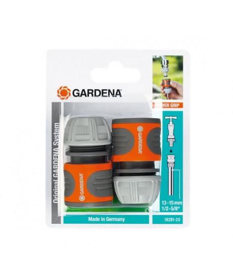 Raccords rapides pour tuyaux d'arrosage de 13 mm 1/2 et 15 mm 5/8 GARDENA - 18281-20 x2