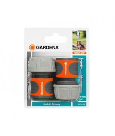 Raccords rapides pour tuyaux d'arrosage de 19 mm 3/4 GARDENA - 18282-26 x2