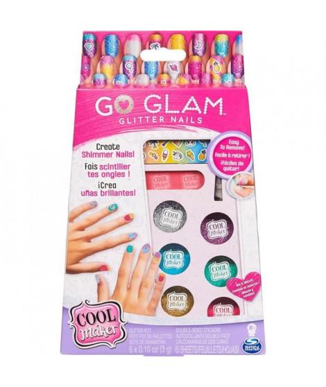 COOL MAKER - MANUCURE Go Glam Glitter Nails - Ongles a Paillettes et Autocollants - Loisirs Créatifs - 6059916 - Jouet Enfant…