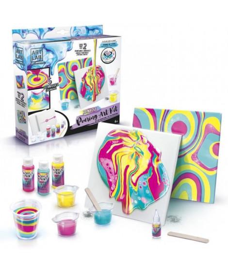 ART LAB Pouring Paint - Kit de Peinture theme Rainbow - Coffret pour enfant - Peinture acrylique