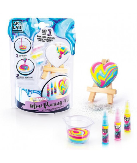 ART LAB Pouring Paint - Kit Chevalet de Peinture - Coffret pour enfant - Peinture acrylique