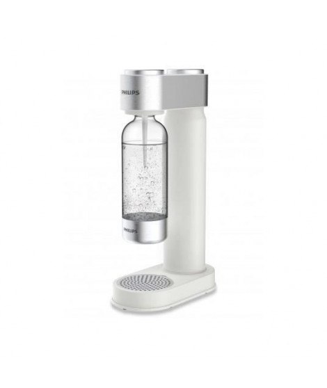 PHILIPS ADD4902WH - Machine a Soda Blanche finitions chromées + Cylindre 425g CO² + 1 bouteille PET 1 litre