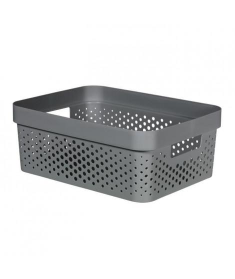 CURVER Bac Infinity 11L Dots - Plastique recyclé - Gris