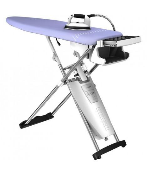 Laurastar S XTRA Centre de repassage - 000.0303.779 - Table active - Semelle active en 3D - Fer professionnel - Gris et violet