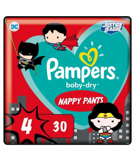PAMPERS Couches-culottes Baby-Dry Pants Taille4 - 30culottes