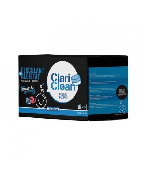 IMPACT Pastilles floculant technique universel et algistat Clari clean - 40 g - Bicouche : blanche et bleu
