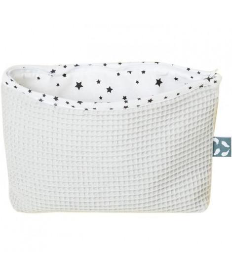 Trousse de toilette 20x25 cm avec zip Gris clair