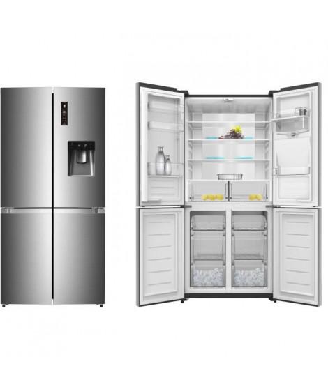 TRIOMPH TTW430NFS - Réfrigérateur Multiportes - 429L (296 + 133) - No Frost - A++ - L 86 x H 185 cm - Silver