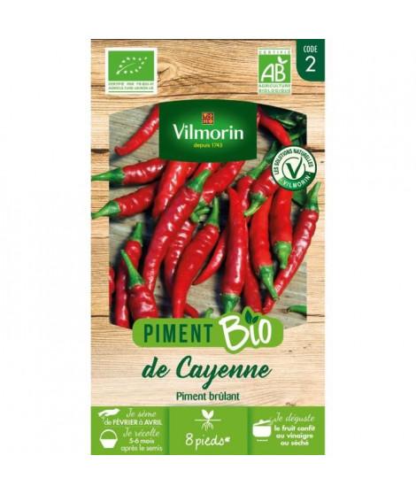 Piment Demi-long de Cayenne bio Vilmorin