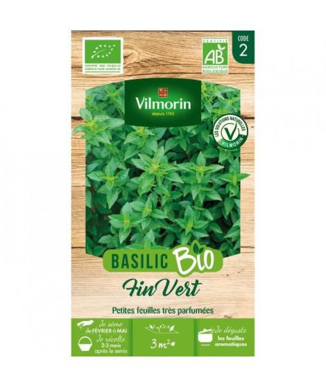 Basilic fin vert bio Vilmorin