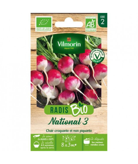 Radis National 3 bio Vilmorin