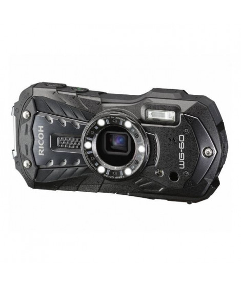 RICOH WG 60 Noir - Appareil Photo Compact Etanche, Robuste et Leger - 3 modes de stabilisation - Zoom 5x grand-angle - 6 LED …