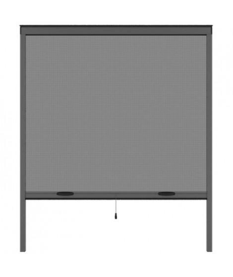 Moustiquaire de fenetre L220 x H160 cm en aluminium gris anthracite -  Recoupable en largeur et hauteur