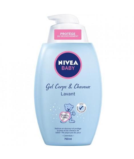 NIVEA BABY Gel lavant douceur - Pour cheveux et corps - 750 ml
