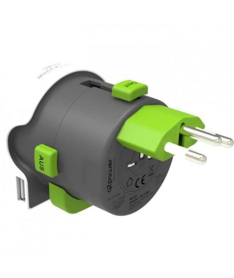 CHACON Adaptateur de voyage -  Europe to World USB