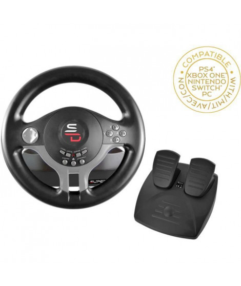 Volant Driving Wheel - SUBSONIC - Compatible Switch, PS4, Xbox One, PC