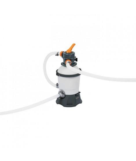BESTWAY Filtre a sable 2,006 m³ /H + pré-filtre - Blanc