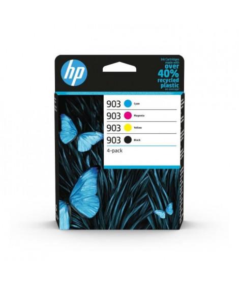 HP 903 pack de 4 cartouches d'encre authentiques, noir/cyan/magenta/jaune (6ZC73AE) pour HP OfficeJet / OfficeJet Pro 6900