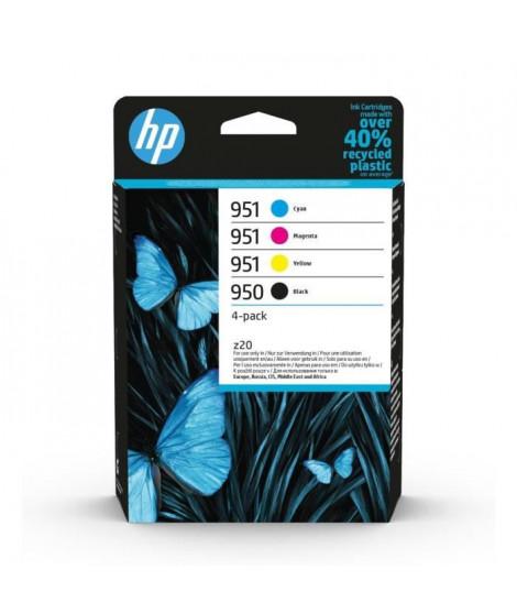 HP 950/951 pack de 4 cartouches d'encre authentiques, noir/cyan/magenta/jaune (C2P43AE) pour imprimantes HP OfficeJet Pro 8600